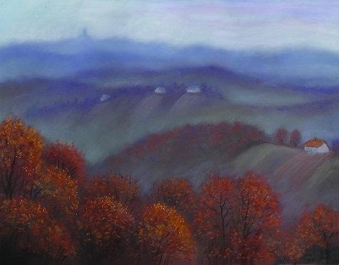 "32. Josip Rubes, ""Magle jesenje"", 37,5x48,5 cm"