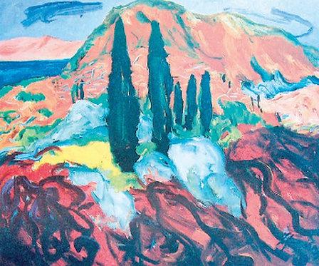 "29. Ivica Zupković, ""Cypresses"", 46x55 cm"