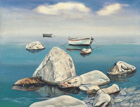 """116. Nenad Marasović, """"Barke"""", 40x52 cm"""