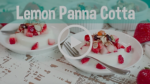 lemon panna cotta, snack healthy, snack happy