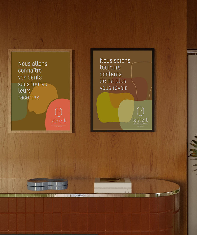 Campagne d'affichettes pour un cabinet dentaire