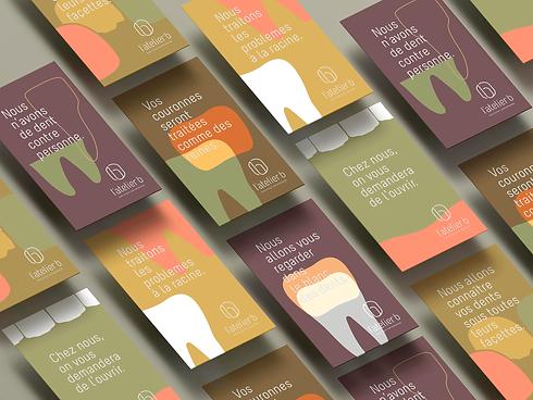 Sories Instagram créées pour le cabinet dentaire L'atelier B.