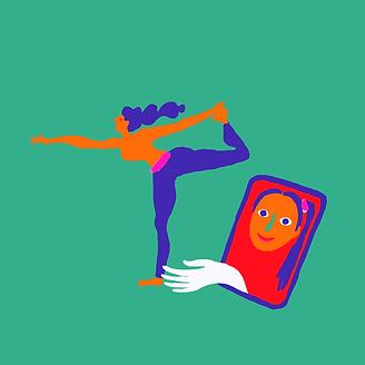 Illustration pour Yoga Mar réalisée par Marianne Fonferrier
