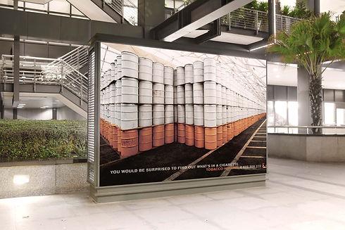 Affiche pour Tabac Info Service. Lion de bronze à Cannes.