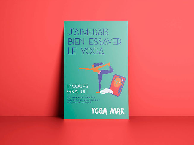 Création de flyer pour des cours de Yoga de Yoga Mar