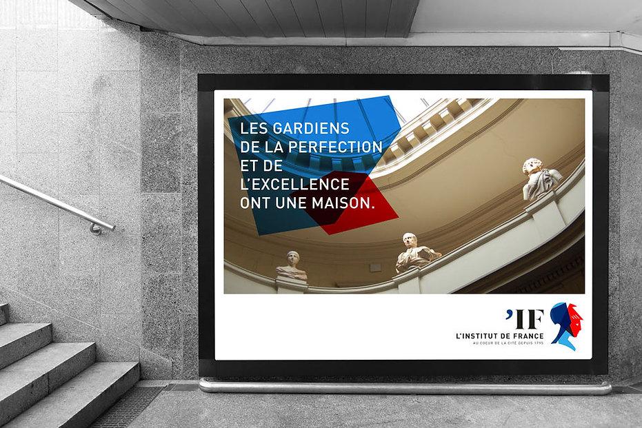 Projet de campagne d'affichage pour l'Institut de France