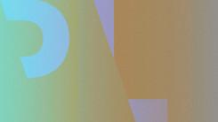 Un jeu de couleur, de typos tout en dégradés