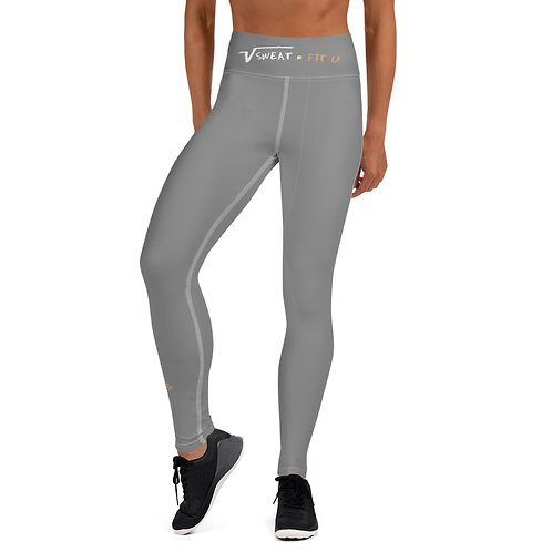 Porperty of Fit U Gray Yoga Leggings