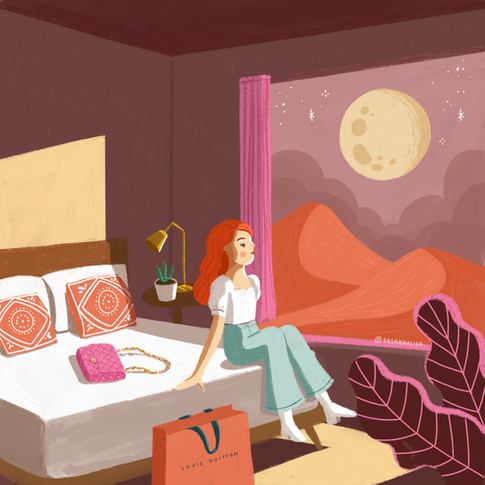 Personal project inspired by Edward Hopper's Western Motel.