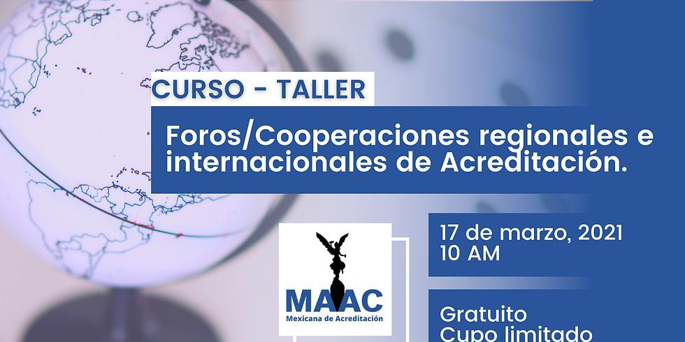 Foros/Cooperaciones regionales e internacionales de Acreditación