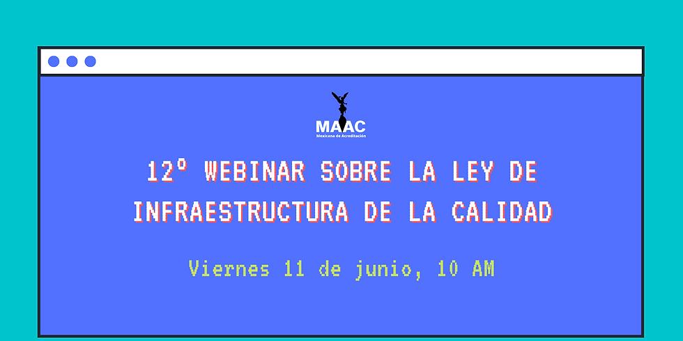 12° Webinar: Ley de Infraestructura de la Calidad (ÚLTIMO)