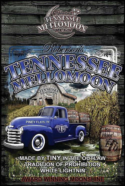 Tennessee Mellomoon ETD Vintage Blue Pickup Truck on an Aluminum Sign