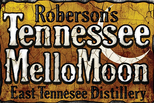 Tennessee Mellomoon ETD distressed on an Aluminum Sign