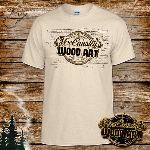 McCausley's Wood Art Logo T-Shirt