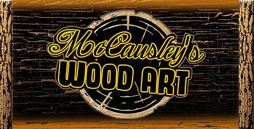McCausley's Wood Art License Plate