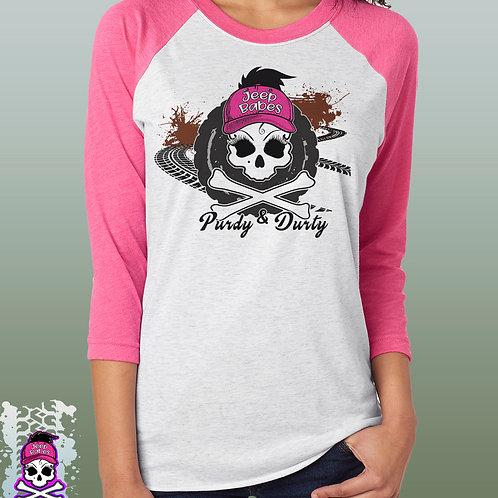 "Jeep Babes~ ""Purty & Durty"" ragland shirt"