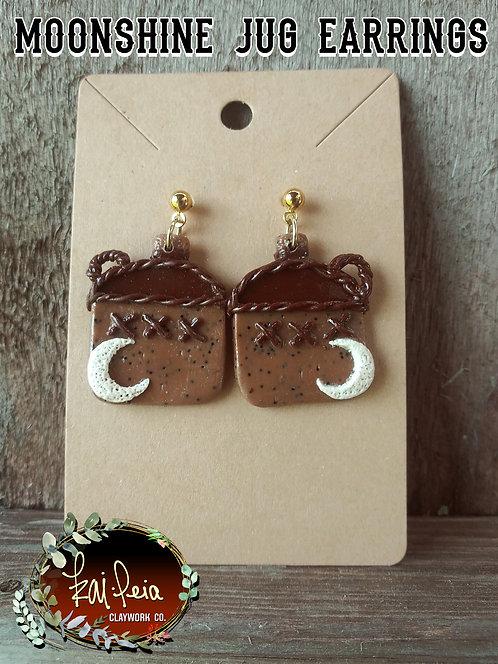 Moonshine Jug Earrings