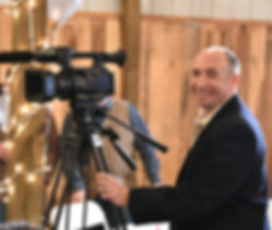 Filming at a wedding