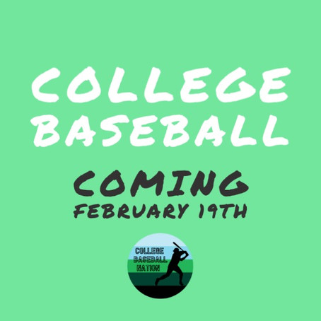 Complete College Baseball 2021 Opening Day Schedule
