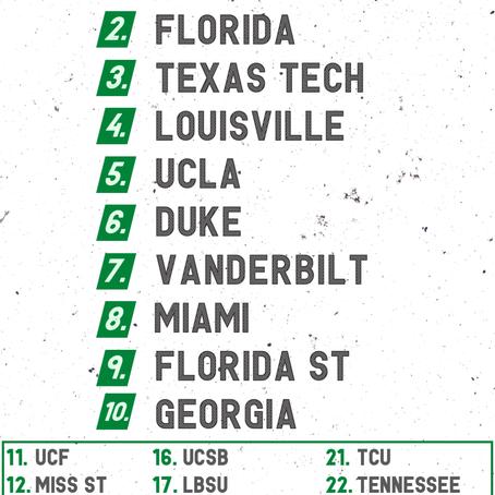 Week 5 College Baseball Rankings
