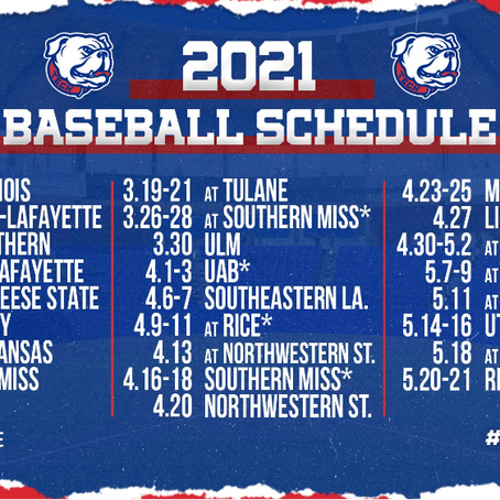 Louisiana Tech Releases Schedule, Provides First Look at 2021 College Baseball Season