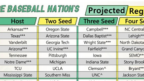 5/28 NCAA Tournament Field of 64 Projection