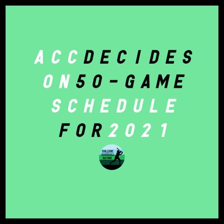 ACC Decides on 50-Game Schedule for 2021