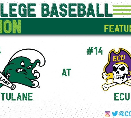 ECU Takes Over Lead In the American, Winning Three of Four Against Tulane