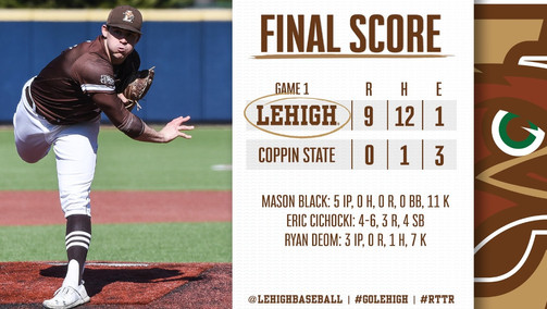 Led By Preseason All-American, Mason Black, Lehigh Pitching Strikes Out 21 on Opening Day