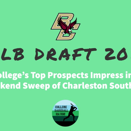 Boston College's Top Prospects Impress in Opening Weekend Sweep of Charleston Southern
