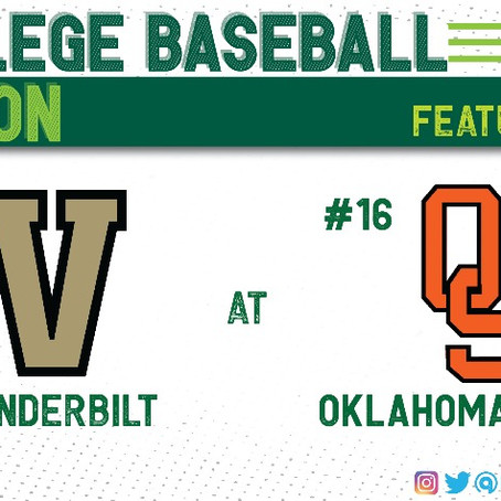 #2 Vanderbilt and #16 Oklahoma State Both Bring Top Ten Pitching Staffs Into Weekend Series