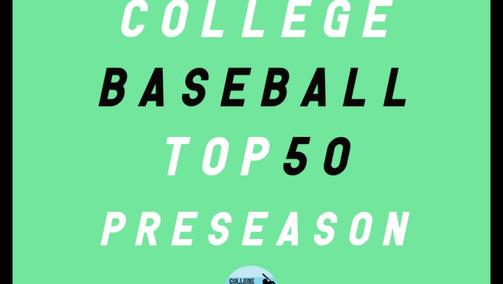 RANKINGS: Preseason College Baseball Top 50
