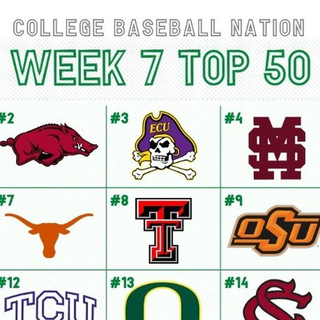 Week 7 College Baseball Top 50: Vanderbilt Returns to #1, ECU Rises to #3