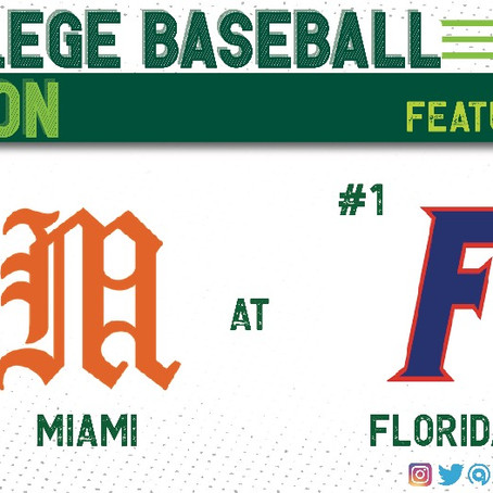 #1 Florida Hosts Rival, #22 Miami, to Start the Season