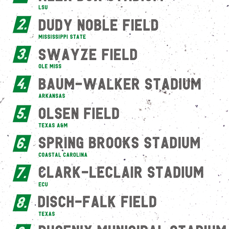 Top 25 College Baseball Stadiums, According to Players
