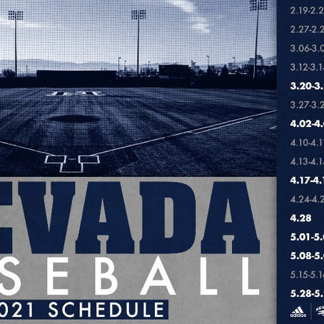 Nevada Releases 46-Game Schedule for 2021 Season
