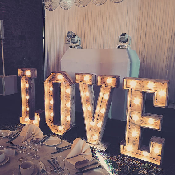 Rustic 4ft Love letters