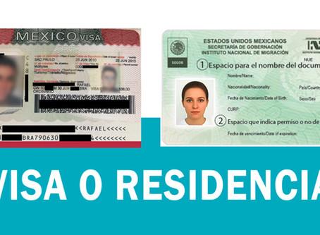 Diferencia entre VISA y RESIDENCIA MIGRATORIA en México | Emigrar a México 2020