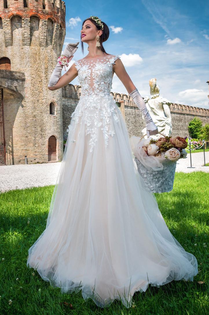 A-line wedding dress Allegra collection Milanolecce
