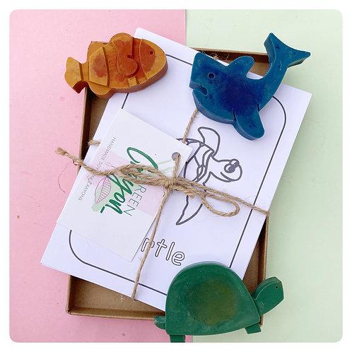 Sea Life Colouring Cards