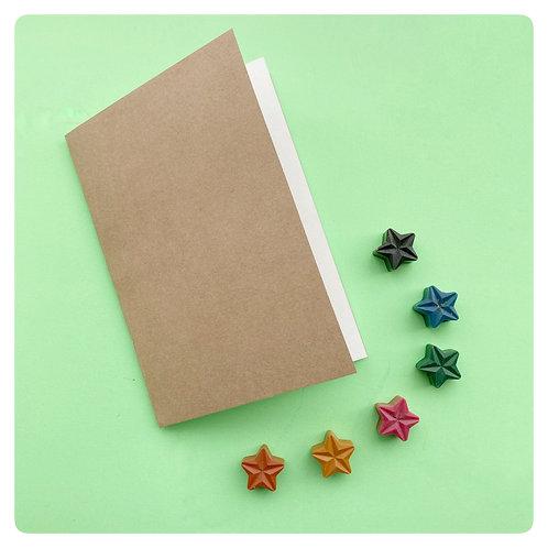 Blank Colouring Book & Crayon set