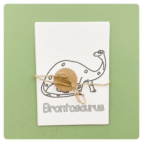 Dinosaur Colouring cards