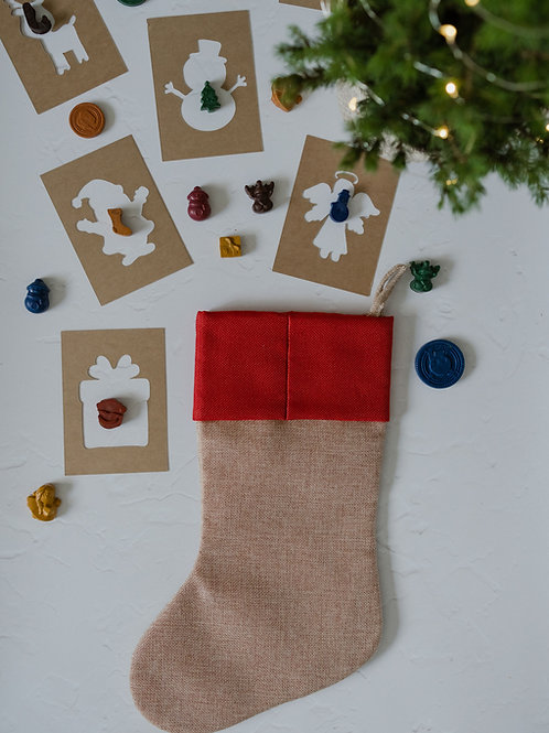Christmas Stencil or Rubbing shapes