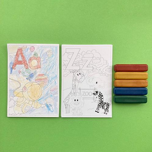 Colouring Card Set