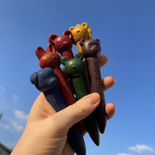 Animal Head Pencil shaped crayons