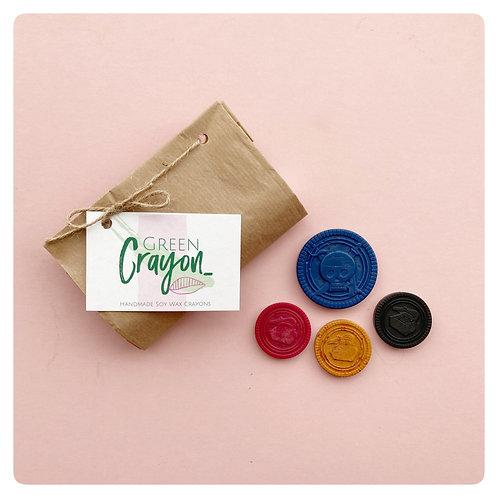 Pirate coin Mini Crayon Set