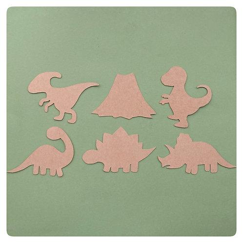 Dinosaur Stencil or Rubbing shapes