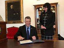 Anna Nasset and Governor Scott