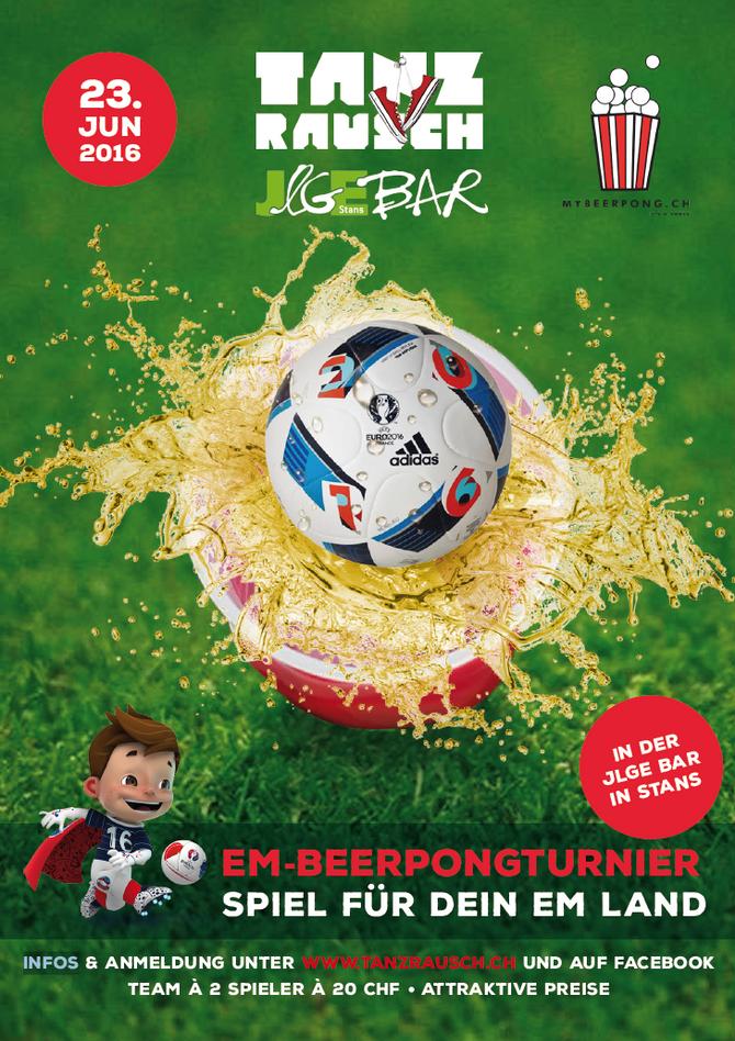 EM Beer Pong Turnier, Jlge Bar Stans