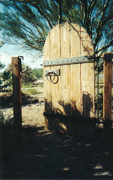 Old Gate with Steel Accets